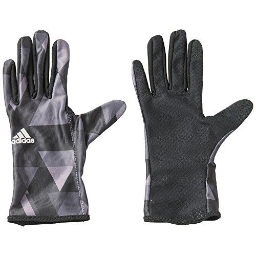 (アディダス)adidas ランニングウェア UVカットランニンググローブ BIQ10 [メンズ] AP4401 ブラック/シルバーメット M