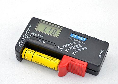 DNTselect バッテリーテスター 電池チェッカー デジタル 残量測定器