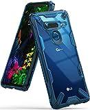 【Ringke】LG G8 ThinQ ケース (2019) 対応 コスパ最高 ストラップホール 落下衝撃吸収 スマホケース [米軍MIL規格取得] TPU PC 2重構造 スマホケース 吸収耐衝撃カバー 背面クリア Qi ワイヤレス充電対応 Fusion-X (Space Blue)