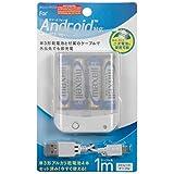 スマートフォン用乾電池式単3×4本USBタイプ 充電専用ケーブル1m付 IBCU4-SPC02W