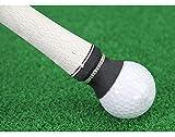 (ティーモイス)Timoise ゴルフボールピックアップ 吸盤 2枚入 グリップ用 パター ツール サクションカップ ブラック 吸い上げ ゴルフボール拾い スポーツ アウトドア (ブラック 1枚入)