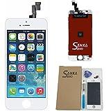 SANKA iPhone 5s フロントガラス デジタイザ (タッチパネル) 及び 液晶LCD 一体型セット 4.7インチ 交換用 部品 修理工具付き ホワイト