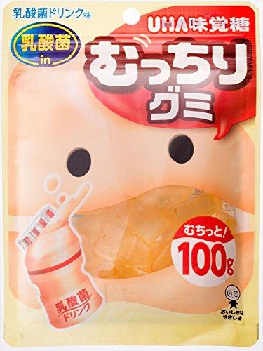 味覚糖 むっちりグミ 乳酸菌ドリンク 100g×10袋