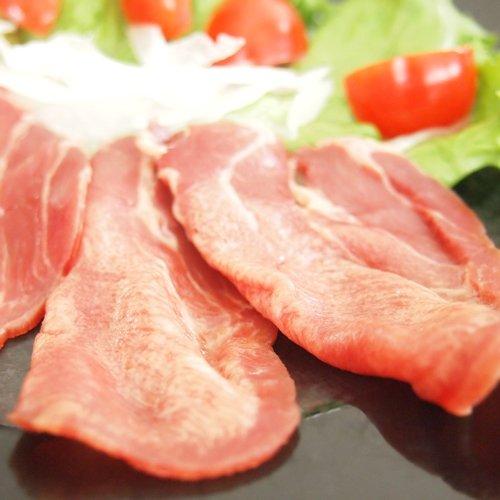 極旨 牛タン生ハム スライス 100g 生ハムサラダ、パスタ、生春巻き、カルパッチョにもオススメ 牛刺し、ユッケもご用意しております (100g)