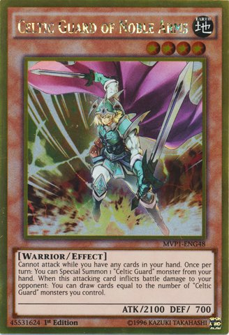 遊戯王 英語版 エルフの聖剣士/Yu-Gi-Oh! - Celtic Guard of Noble Arms (MVP1-ENG48) - The Dark Side of Dimensions Movie Pack Gold Edition - 1st Edition - Gold Rare