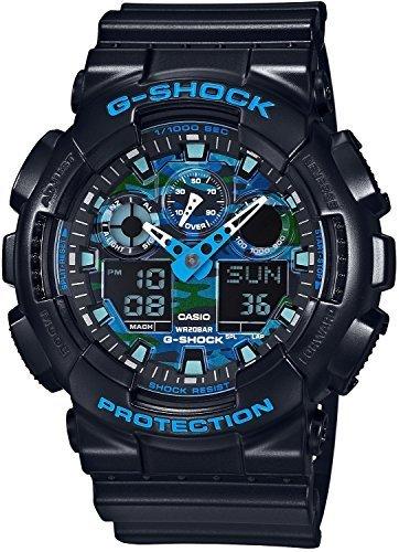 カシオ Gショック G-SHOCK クオーツ メンズ 腕時計 GA-100CB-1A ブルーカモフラ[並行輸入品]