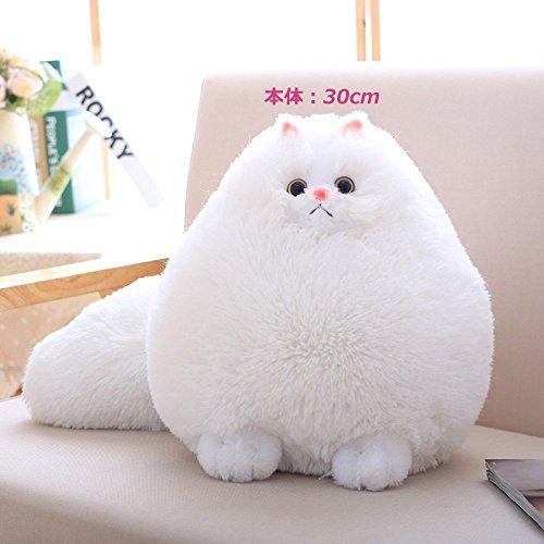 【子供の日】かわいい ねこ ぬいぐるみ 子供の間で大人気 ふわふわ ニャンコ 抱き枕 お誕生日 記念日 贈り物 スーパーソフト 白い猫 ホワイト30cm