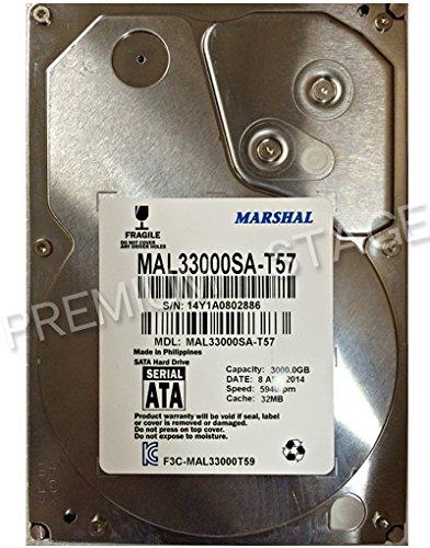 MARSHAL(マーシャル) 【消費電力モデル】MAL33000SA-T57 (3TB,5940rpm,S-ATA) 3.5HDD