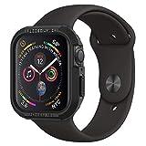 【Spigen】 Apple Watch ケース 落下 衝撃 吸収 Series 4 44mm 対応 ラギッド・アーマー 062CS24469 (ブラック)