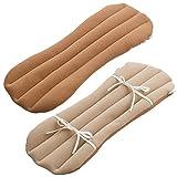 眠り製作所 ここにも枕 腰枕 脚枕 腰痛対策 日本製 リバーシブル (ライトブラウン)