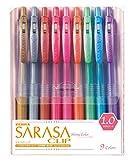 ゼブラ ジェルボールペン サラサクリップ 1.0 9色 JJE15-9CA