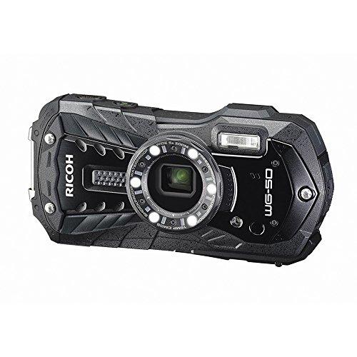 RICOH 防水デジタルカメラ RICOH WG-50 ブラック 防水14m耐ショック1.6m耐寒-10度 RICOH WG-50 BK 04571