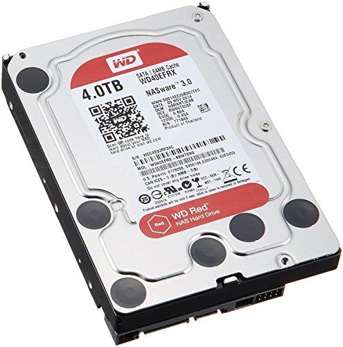 WD 製 Red モデル 内蔵ハードディスク(HDD) 4TB 3.5インチ ロジテックの保証・無償ダウンロード可能なソフト付【LHD-WD40EFRX】