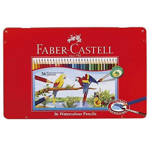 ファーバーカステル 水彩色鉛筆 平缶 36色セット TFC-WCP/36C -