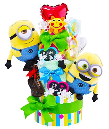大人気キャラクターのミニオンズのおむつケーキを友達の出産祝いにプレゼント