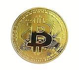 Happinessplus ビットコイン金メッキBitcoin仮想通貨 コイングッズギフトBTCコインアートコレクションフィジカル 全3色 (ゴールド)