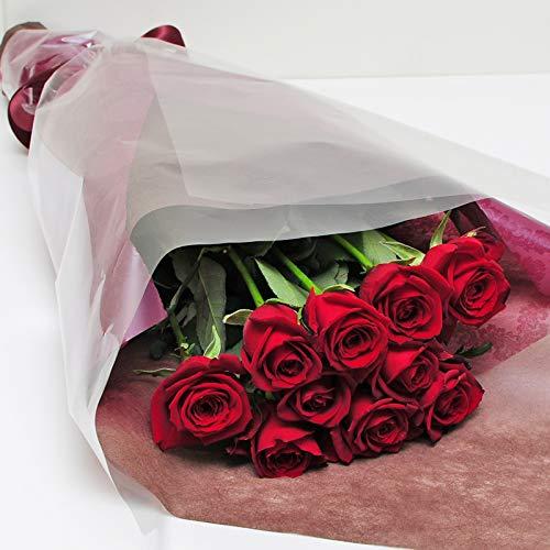 本数をお選びください 赤いバラの花束 10本~100本 最高級のトップローズを使用 薔薇 エーデルワイス 花工...