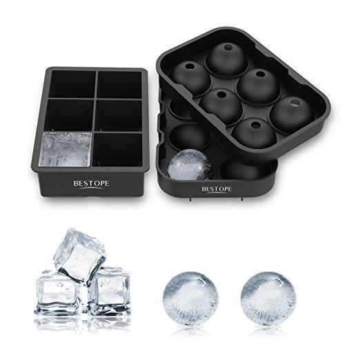 製氷皿 シリコンまる氷アイストレー 6個大ボール製氷器【2個セット】お茶やお酒用氷が作れる製氷皿 直径4.5cm