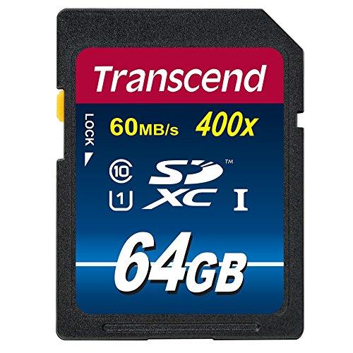【Amazon.co.jp限定】Transcend SDXCカード 64GB Class10 UHS-I対応 400× (最大転送速度60MB/s) (無期限保証) TS64GSDU1PE (FFP)