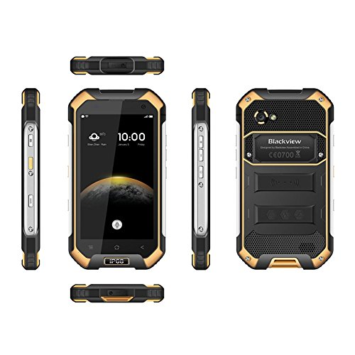 (黄色)Blackview BV6000 Octa Core Android 6.0 4G電話(3GB + 32GB IP68)Occitop