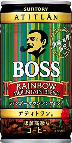 缶コーヒー ボス 東海・北陸限定 レインボーマウンテン 185g缶×30本