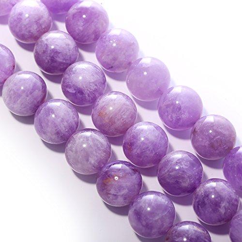 【京珠堂】上質AAA 紫水晶 ラベンダーアメジスト 6~14mm 天然石 一連 (6mm)