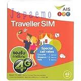 タイ プリペイド SIMカード【AIS TRAVELLER 7日間90MB 20B無料通話付き!】日本語ご利用ガイド付き!3G標準SIM、マイクロSIM、NanoSIM対応)