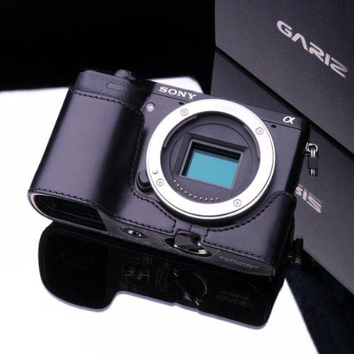 GARIZ ゲリズ SONY ソニー NEX7用 ケース 本革カメラケース XS-CHNEX7  メタルプレート ブラック【並行輸入品】