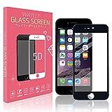 【最新5D曲面】WAYLLY ガラスフィルム BLACK iPhone6/iPhone6s WAYLLY対応アクセサリー ブルーライトカット 全画面保護 気泡防止 撥油性 高透過率 9H硬度強化ガラス 極薄0.30ミリ 飛散防止 保護フィルム