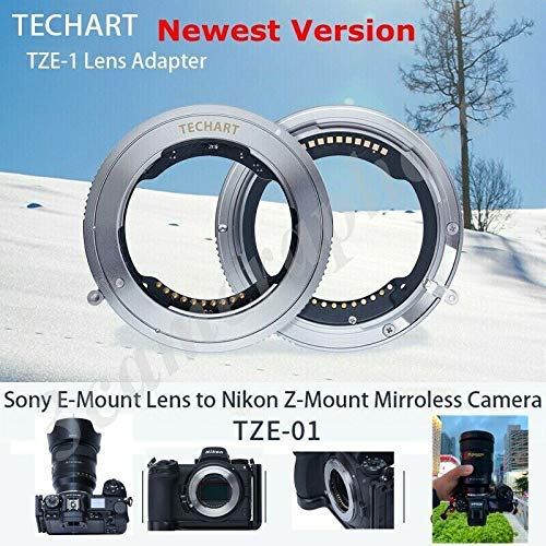 TECHART TZE-01カメラレンズアダプター マウントアダプター AFオートフォーカス FE-Z 電子アダプター(Sony FE マウントレンズ-Nikon ZマウントカメラZ6 Z7 変換)