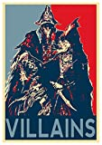 Wall Art Poster Print Bloodborne Propaganda Villains - Formato A3 (42x30 cm) 11x17 Inches