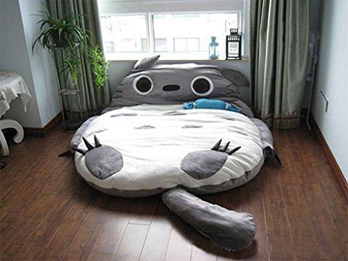 トトロダブルベッドSleepingバッグパッドソファーベッドマットレスの両方の子供や大人用S Large M グレー Totoro_001_Toothless_M