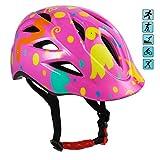 ANCHEER ヘルメット 子供用 【新型】 軽量 取り外し・汗取りパット サイズ調整可能 サイクリング スケート スポーツヘルメット(頭囲 50cm~54cm未満) (ピンク)
