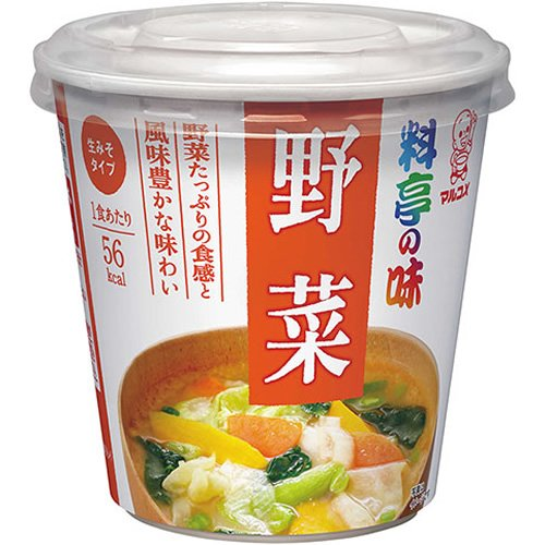 マルコメ カップ料亭の味 野菜 即席味噌汁 6個