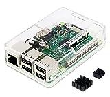 Raspberry Pi3 Model B ボード&ケースセット 3ple Decker対応 (Clear)-Physical Computing Lab