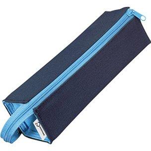 コクヨ ペンケース 筆箱 ペン立て C2 ネイビー×ブルー F-VBF122-1