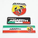 ABARTH メタルエンブレム 3種セット [並行輸入品]