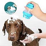 ペットシャワー用ブラシ 猫用、犬用、シリコーン製 、快適に ペット風呂用ブラシ