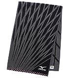スポーツタオル ミズノ H8002 ブラック 約34×110cm SH800230