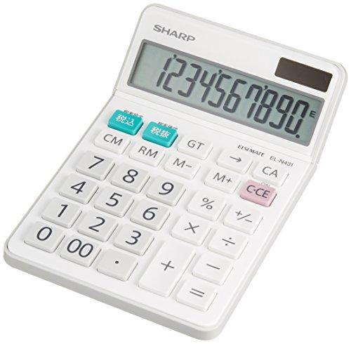 シャープ 電卓 シャープ ナイスサイズタイプ 10桁 EL-N...