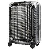 [レジェンドウォーカー] legend walker 6203-50 (マットブラック) ビジネススーツケース 1年保証付 人気機内持ち込み ブランド (ブラックシルバー)
