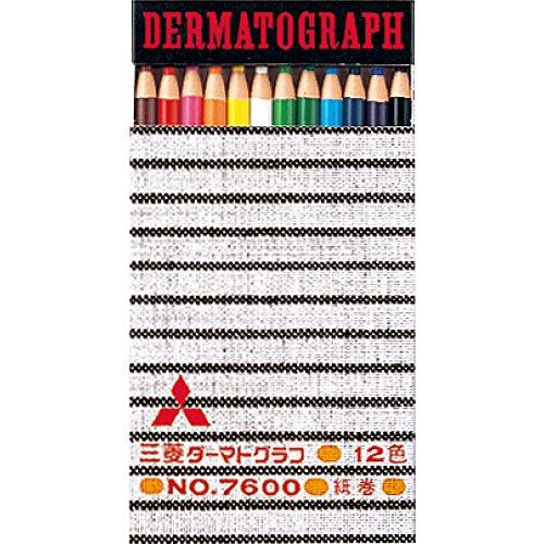 三菱鉛筆 色鉛筆 油性ダーマトグラフ No.7600 12色 K760012C