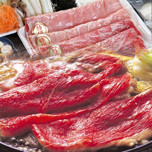 香川県産讃岐オリーブ牛&讃岐の豚ロース すき焼き2人前セット 野菜・うどん付き 《*冷蔵便》