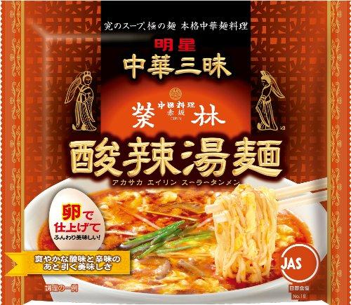 明星 中華三昧 赤坂榮林 酸辣湯麺 109g×24個