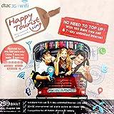 Dtac タイ プリペイド SIM カード Dtac Happy Tourist sim 7日間 3Gデータ 通信 定額  100B 約300円分の 通話 付き! JAPAEMO製 マイクロ SIMアダプタ 付!...