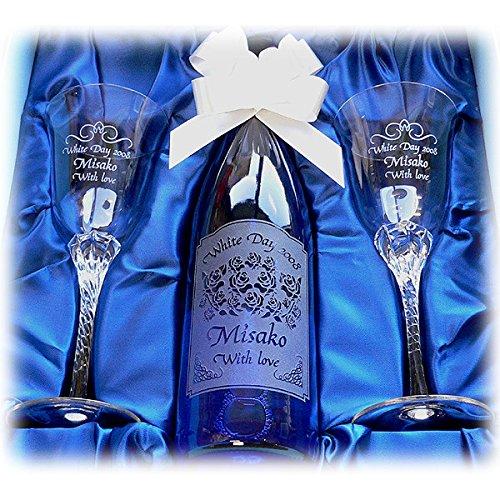 名前入りのボトルを結婚祝いに同僚にプレゼント