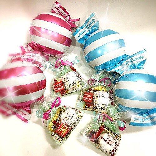 キャンディ型バルーン×お菓子を退職時に贈る