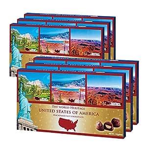 アメリカお土産 アメリカ世界遺産チョコレート 6箱セット | ナッツチョコレート 通販