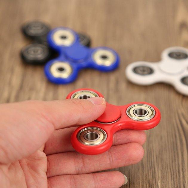 Anself 指スピナー スピン ウィジェット フォーカス玩具 三角プラスチックギフト ADHD子供大人に適用