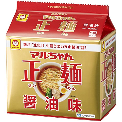 マルちゃん正麺醤油味 5P×6個 -